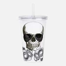 rock n roll skeleton s Acrylic Double-wall Tumbler