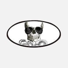 rock n roll skeleton skull Patch