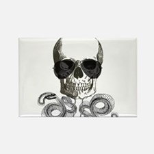 rock n roll skeleton skull Magnets