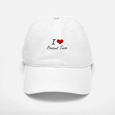 I Love Present Tense Baseball Baseball Cap