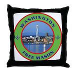State of Washington Free Mason Throw Pillow
