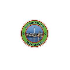 State of Washington Free Mason Mini Button (100 p