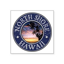 "Funny Beach maui Square Sticker 3"" x 3"""