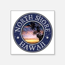 "Cute Oahu Square Sticker 3"" x 3"""