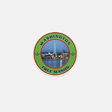 State of Washington Free Mason Mini Button