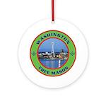 State of Washington Free Mason Ornament (Round)