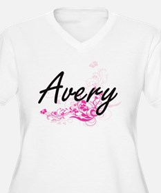 Avery surname artistic design wi Plus Size T-Shirt