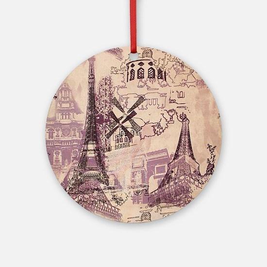 Paris XI Round Ornament