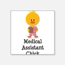 "Cute Nurse chick Square Sticker 3"" x 3"""