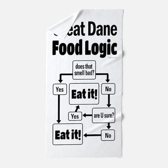 Great Dane Food Beach Towel