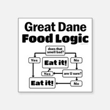 "Great Dane Food Square Sticker 3"" x 3"""