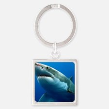 GREAT WHITE SHARK 3 Square Keychain