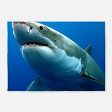 GREAT WHITE SHARK 3 5'x7'Area Rug