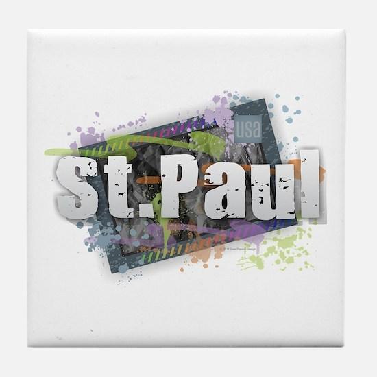 Cute Saint paul saints Tile Coaster