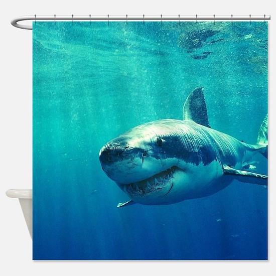 GREAT WHITE SHARK 1 Shower Curtain