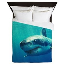 GREAT WHITE SHARK 1 Queen Duvet