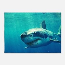 GREAT WHITE SHARK 1 5'x7'Area Rug