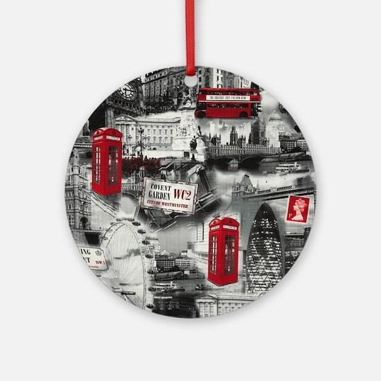 London Round Ornament