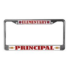 Elementary Principal License Plate Frame