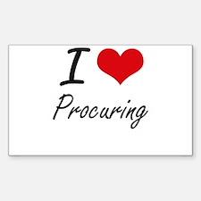 I Love Procuring Decal