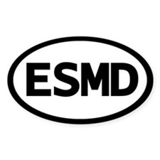 Oval ESMD Eastern Shore of Maryland sticker