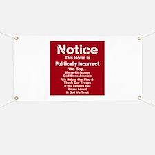 Politically Incorrect Banner