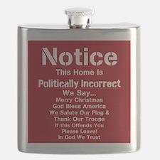 Politically Incorrect Flask