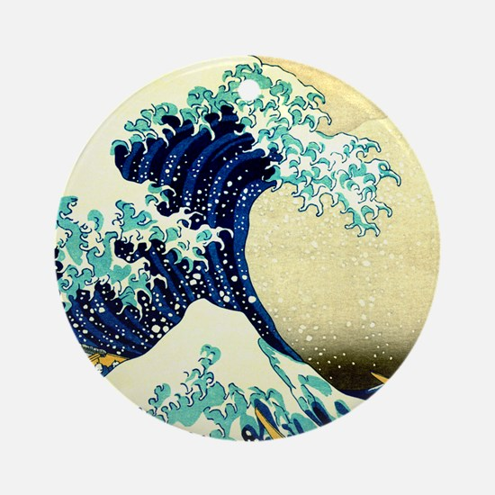 The Great Wave off Kanagawa Round Ornament