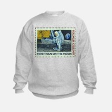 US First Man on Moon 10Cent Greet Sweatshirt