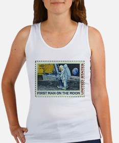 US First Man on Moon 10Cent Greeting Car Tank Top