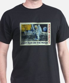 US First Man on Moon 10Cent Greeting Card T-Shirt