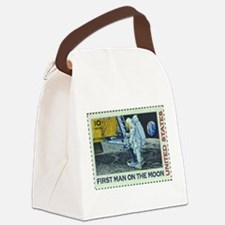US First Man on Moon 10Cent Gree Canvas Lunch Bag