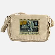 US First Man on Moon 10Cent Greetin Messenger Bag