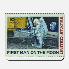 US First Man on Moon 10Cent Greeting Ca Mousepad