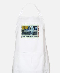 US First Man on Moon 10Cent Greeting Card.p Apron