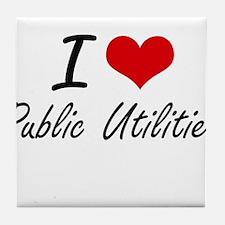 I Love Public Utilities Tile Coaster