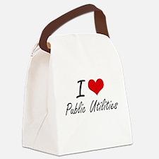 I Love Public Utilities Canvas Lunch Bag