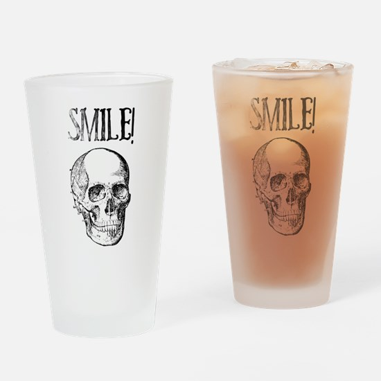 Smile! Skull smiling Drinking Glass