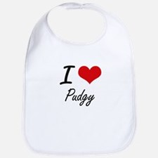 I Love Pudgy Bib