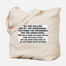 WE THE WILLING Tote Bag