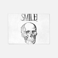 Smile! Skull smiling 5'x7'Area Rug