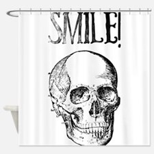 Smile! Skull smiling Shower Curtain
