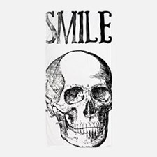 Smile! Skull smiling Beach Towel