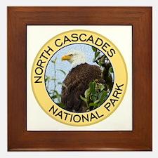 North Cascades NP (Bald Eagle) Framed Tile