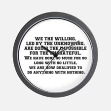 WE THE WILLING Wall Clock