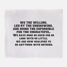 WE THE WILLING Throw Blanket