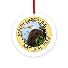 North Cascades NP (Bald Eagle) Ornament (Round)