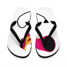 Pink blower, rosa föhn Flip Flops