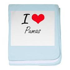 I Love Pumas baby blanket