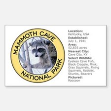 Mammoth Cave NP (Raccoon) Rectangle Stickers